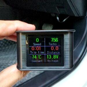 OBD HUD แสดงค่าเกจ์ของรถยนต์ แจ้งเตือน ความร้อน แบต ความเร็ว ลบไฟเครื่องโชว์